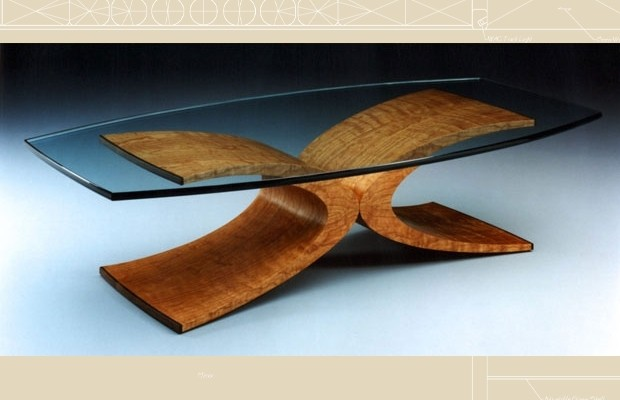 Photo gallery of wood furniture by rapaport designs for Showcase coffee table