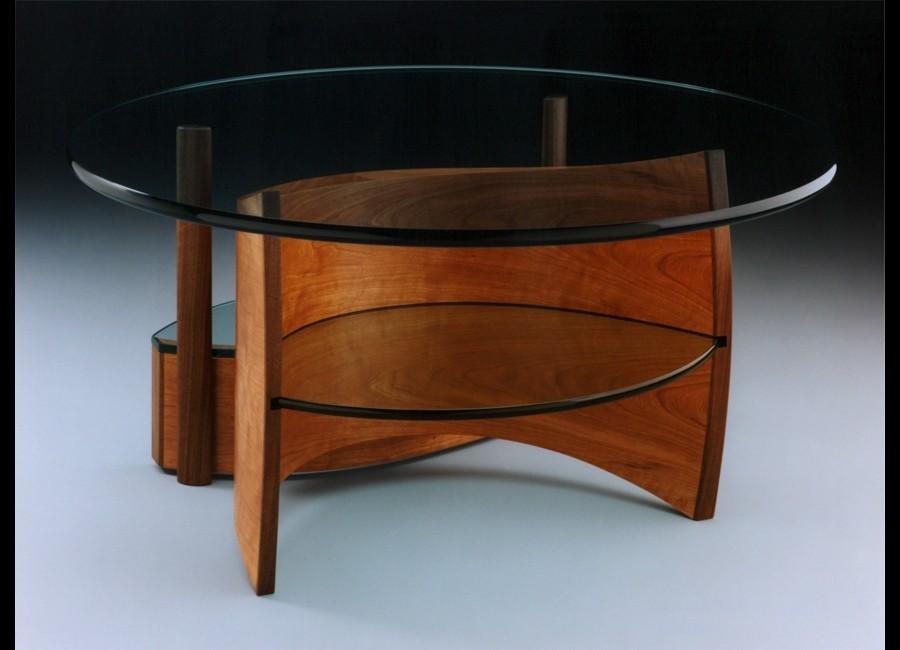 Photo gallery of wood furniture by rapaport designs for Showcase table design
